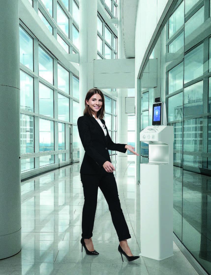 Proclean – Automatyczne dezynfektory do rąk z terminalem do pomiaru temperatury